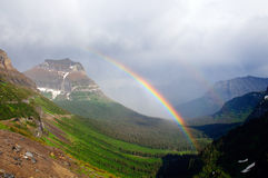 Rainbow in the Mountains Royalty Free Stock Image