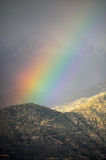 Rainbow in the mountains Royalty Free Stock Photos