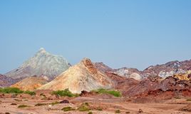 Free Rainbow Mountains And Salt Domes In Hormuz Island And Stock Photo - 160709760