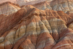 Rainbow mountains in asian geopark at China Royalty Free Stock Photo