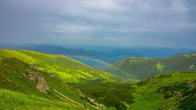 Rainbow in the Mountains stock video