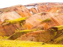Rainbow mountains Stock Image