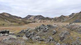 Rainbow mountains located near by Landmannalaugar hot springs. royalty free stock photos