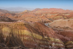 The rainbow mountains. Located on Zhangye, Danxia, Gansu Province, China Stock Photography