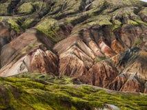 Rainbow mountains. Near Landmannalaugar in Iceland Royalty Free Stock Image