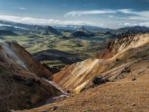 Rainbow mountains. Near Landmannalaugar in Iceland Stock Image