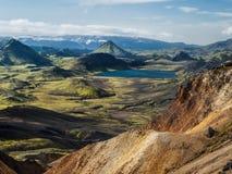 Rainbow mountains. Near Landmannalaugar in Iceland Royalty Free Stock Photo