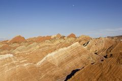 Rainbow Mountains in Zhangye Danxia Landform Geological Park royalty free stock images
