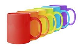 Rainbow Mugs Stock Photography