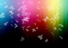Rainbow multicolor background with white splashes Royalty Free Stock Images