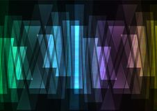 Rainbow multicolor bar reverse abstract background Stock Image