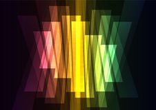 Rainbow multicolor big bar reverse abstract background Stock Photography
