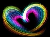 Free Rainbow Multicolored Heart Lovely Grunge Background Stock Image - 84838741