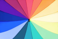 Rainbow multicolored umbrella Royalty Free Stock Photo