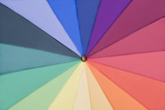 Rainbow multicolored umbrella Stock Images