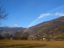 Rainbow in Murau Stock Images