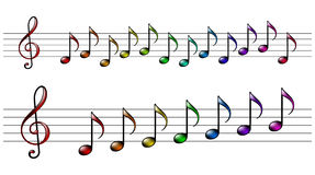 Rainbow music. Illustration in vector Royalty Free Stock Photography