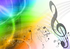 Rainbow music Stock Image