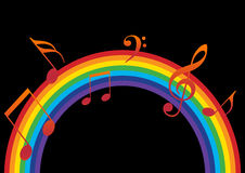 Rainbow music Stock Images