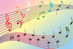 Rainbow music Royalty Free Stock Image