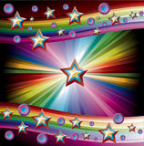 Rainbow Music Background Royalty Free Stock Image