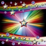 Rainbow Music Background Royalty Free Stock Image