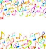 Rainbow Music Background Stock Photo