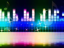 Rainbow Music Background Means Instruments Musical Or Classical Royalty Free Stock Photos