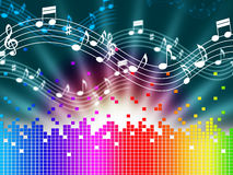 Free Rainbow Music Background Means Melody Singing And Soundwaves Royalty Free Stock Photo - 42075565