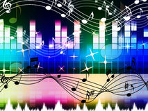 Rainbow Music Background Means Pop Rock Or Rap Stock Photo