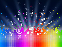 Rainbow Music Background Shows Harmony Sounddwaves Or Piece Royalty Free Stock Photos