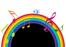 Rainbow music black and white Stock Photos