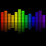 Rainbow music equalizer Royalty Free Stock Images