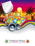 Rainbow Music Event Flyer Royalty Free Stock Photo