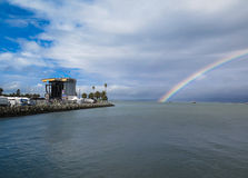 Rainbow at Music Festival. A rainbow over the water at the San Francisco music festival Treasure Island Royalty Free Stock Photography