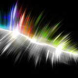 Rainbow Musical Wave Form. A rainbow colored graphic equalizer wave form with sample text in the copy space Stock Photography