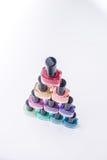 Rainbow of nail polish Stock Photography