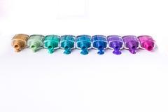 Rainbow of nail polish Royalty Free Stock Photo