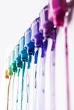 Rainbow of nail polish Royalty Free Stock Photography