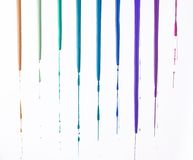 Rainbow of nail polish Royalty Free Stock Images