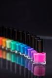 Rainbow of nail polish Royalty Free Stock Photos