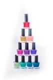 Rainbow of nail polish Royalty Free Stock Image