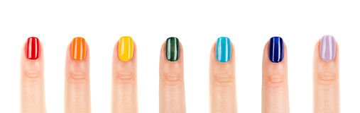 Rainbow Nails Royalty Free Stock Images