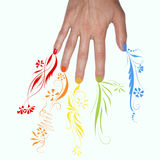 Rainbow Nails Royalty Free Stock Image