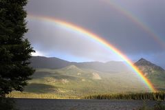 Rainbow, Nature, Sky, Highland Royalty Free Stock Images