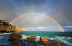 Rainbow, Nature, Sky, Sea stock photo