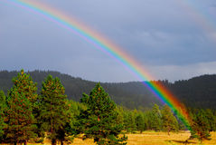 Rainbow Natures Beauty. This Rainbow appeared after a great day of hunting and fishing in Wonderful New Mexico. Gods Promise Royalty Free Stock Images