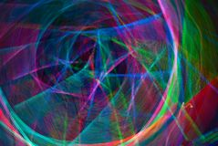 Rainbow Nebula - Light Graffitti Stock Images