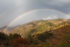 Rainbow nei montaggi Immagine Stock
