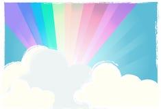 Rainbow nel cielo Fotografie Stock Libere da Diritti
